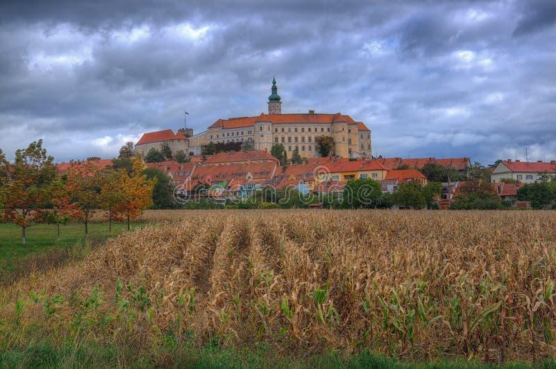 Grodowy Mikulov, Moravia, republika czech zdjęcia stock