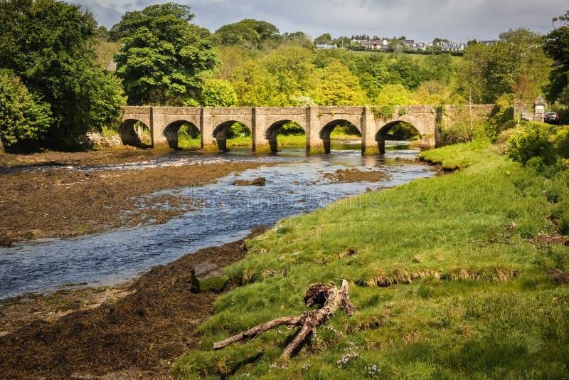 Grodowy most Buncrana Okręg administracyjny Donegal Irlandia obrazy royalty free
