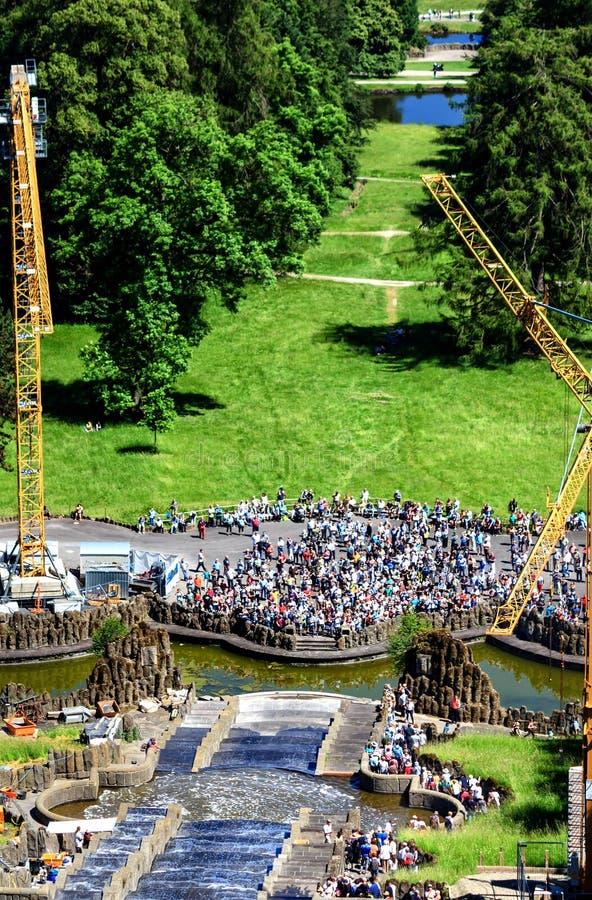 Grodowy park w Kassel, Niemcy obrazy stock
