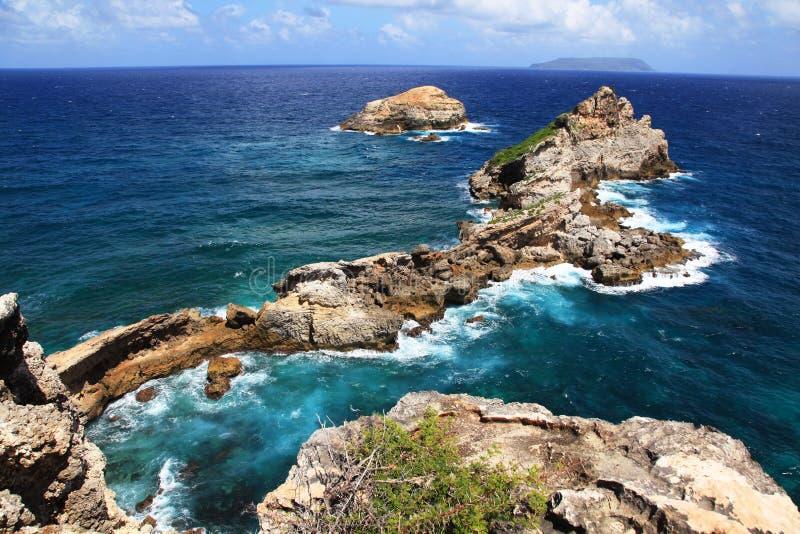 Grodowy punkt w Guadeloupe obrazy stock