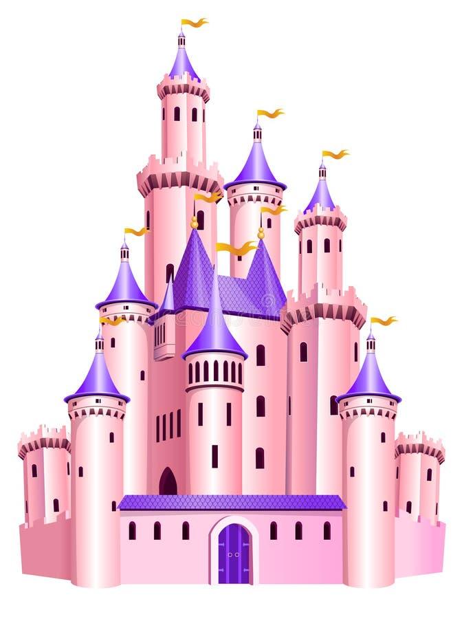 grodowy różowy princess royalty ilustracja