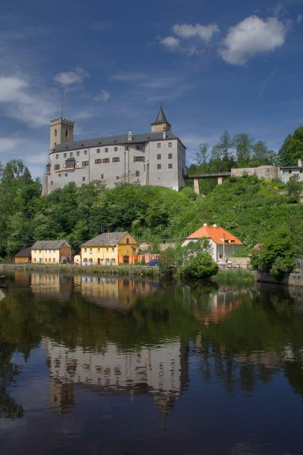 Grodowy Rozmberk nad Vltavou obrazy stock