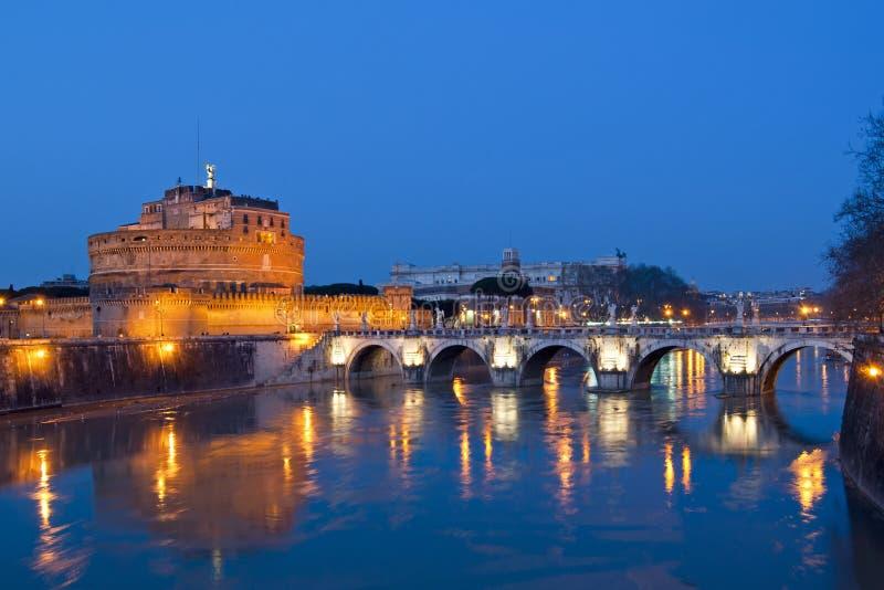 Grodowy St Angelo Rzym fotografia royalty free