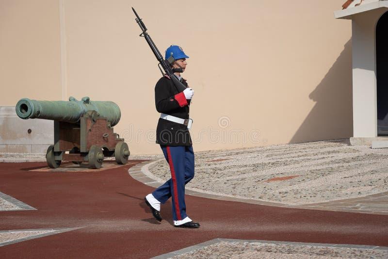 Grodowy strażowy żołnierza odprowadzenie przed pałac zdjęcie royalty free