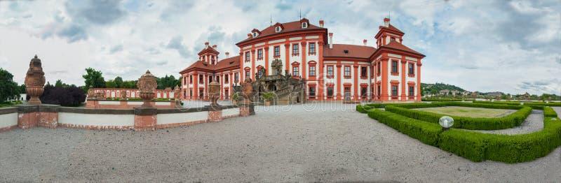 Grodowy Troja w Prage panoramie zdjęcia stock