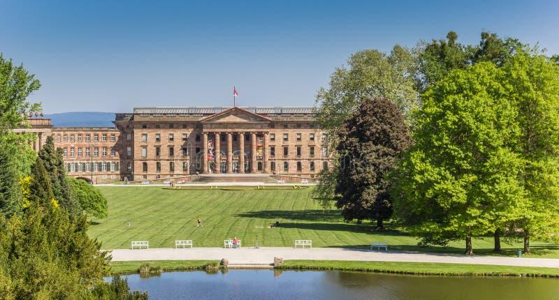 Grodowy Wilhelmshohe w Bergpark Kassel obraz stock