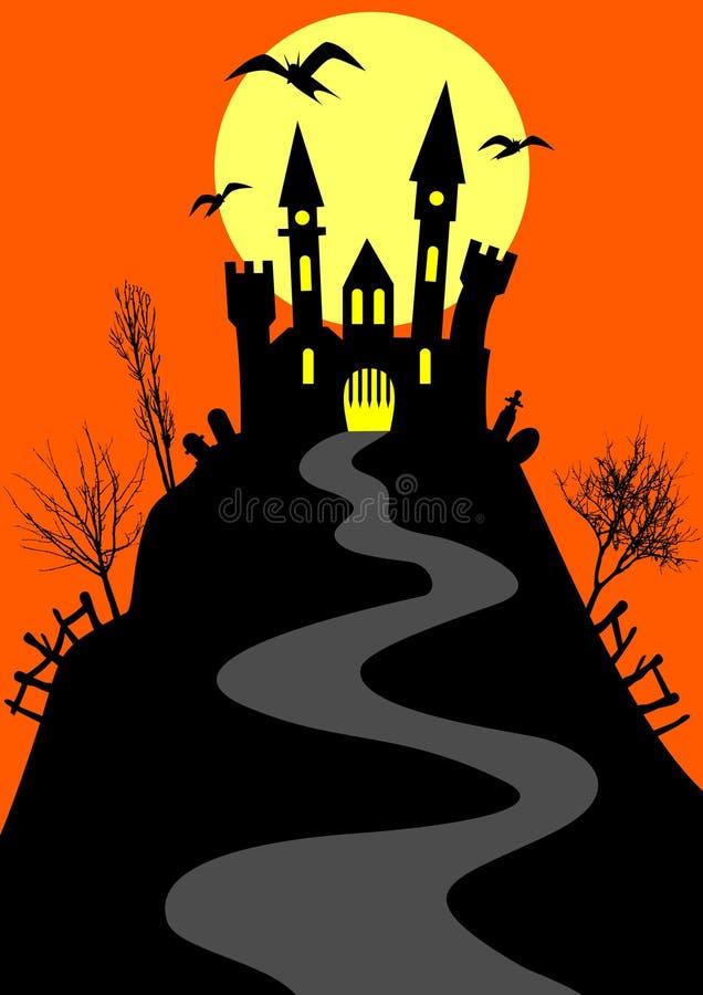 grodowy wzgórze royalty ilustracja