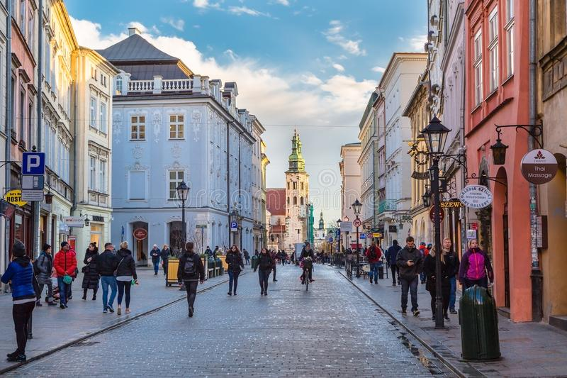 Grodzka Street in Cracow royalty free stock images