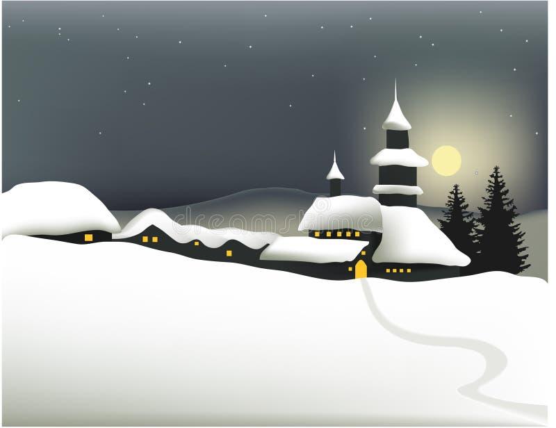 grodzka zima ilustracji