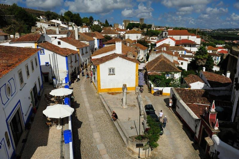 Grodzki Obidos, Portugalia obrazy stock