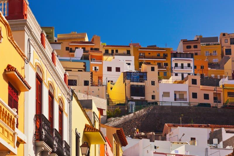 Grodzki San Sebastian kanarek - losu angeles Gomera wyspa - obrazy royalty free