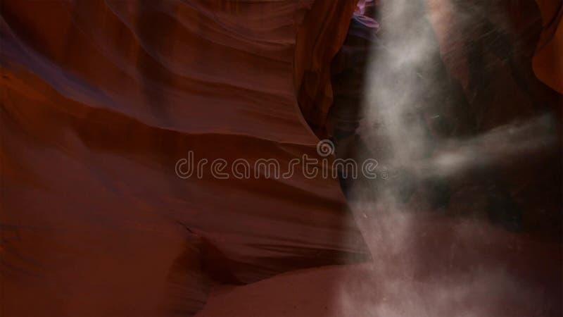 Groefcanion in Groot Trapescalante Nationaal park, Utah, de V.S. De ongebruikelijke kleurrijke zandsteenvormingen in woestijnen v stock afbeelding