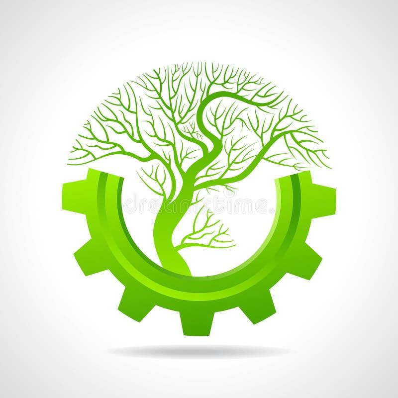 Groeiend bedrijfsconcept met een boom stock illustratie