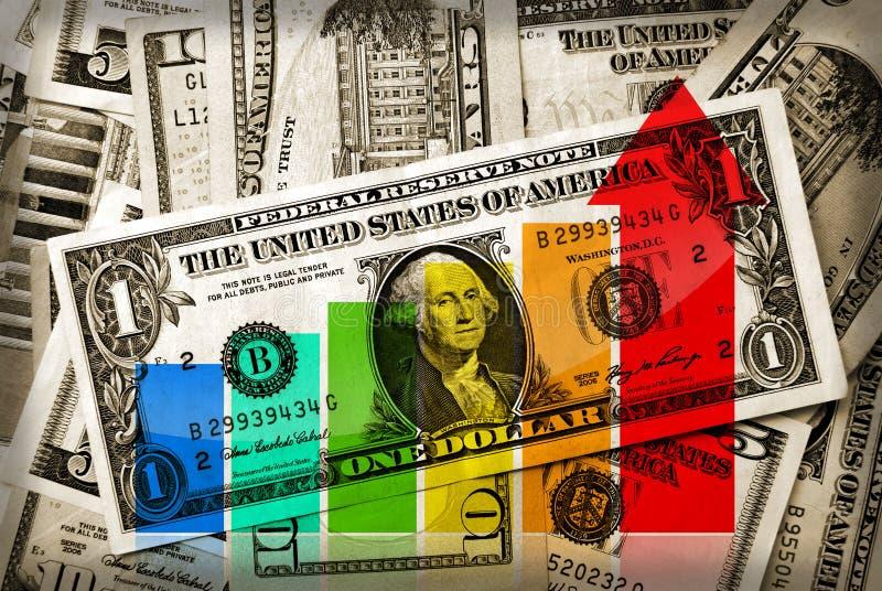 Groeiend geld stock illustratie
