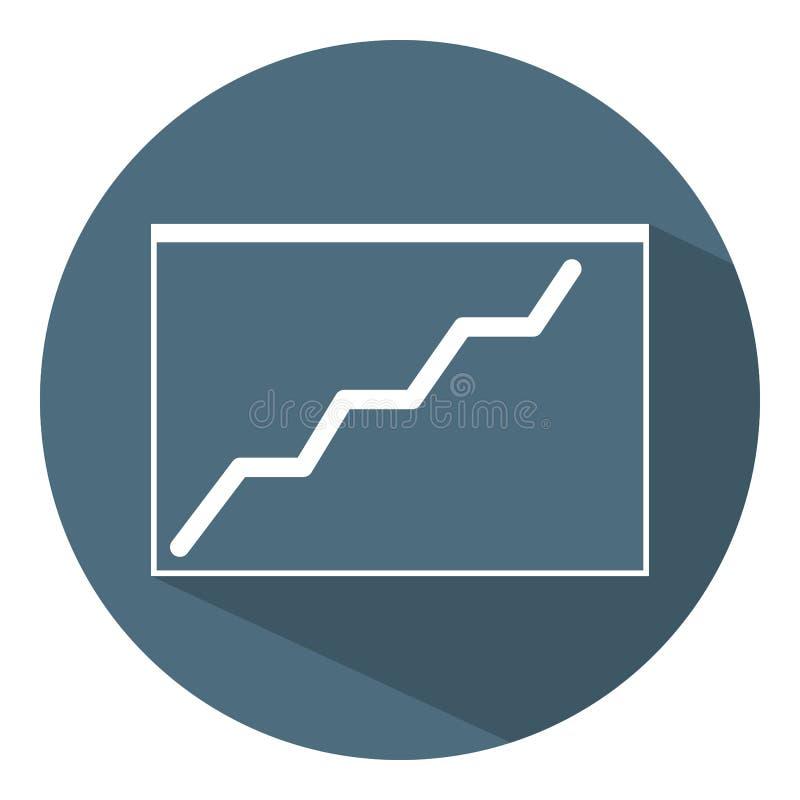 Groeiend grafiekpictogram Bedrijfs concept programma Vlakke stijl Vectorillustratie voor Ontwerp, Web, Infographic royalty-vrije illustratie