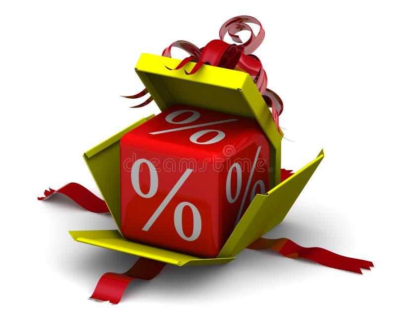 Groeiend percentage in giftdoos stock illustratie
