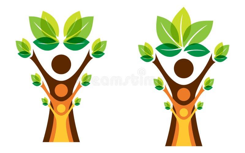 Groeiend stamboomconcept vector illustratie