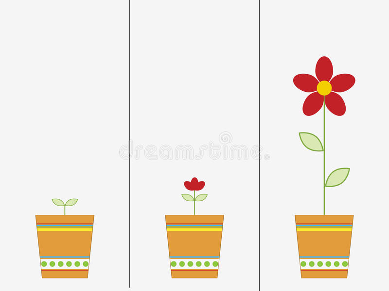 Groeiende bloem stock illustratie