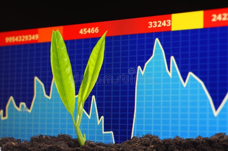 Groeiende economie stock afbeelding