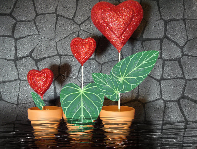 Groeiende liefde vector illustratie