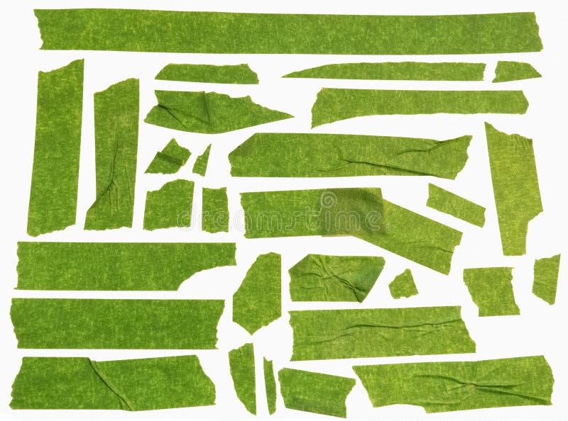 Groen afplakband stock foto