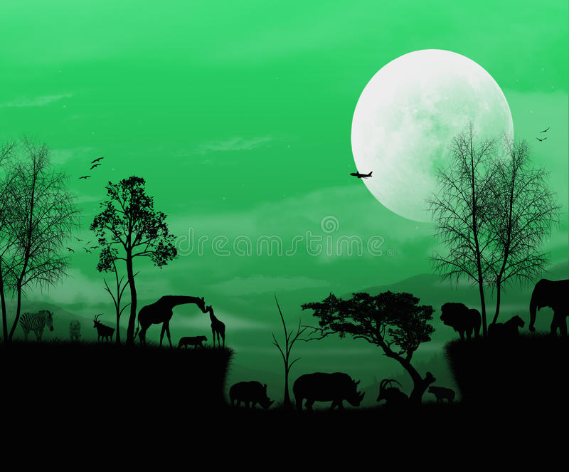 Groen Afrika vector illustratie