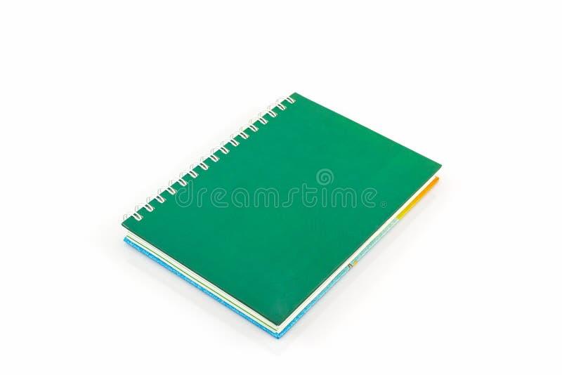 Groen agendaboek stock afbeelding
