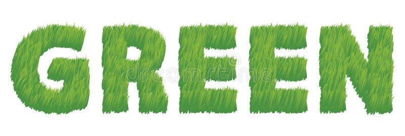 Groen als Illustratie van het Gras stock afbeelding