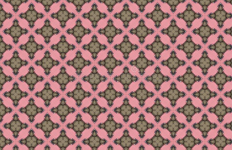 Groen Art Deco Pink Geometric Design-Patroon stock illustratie