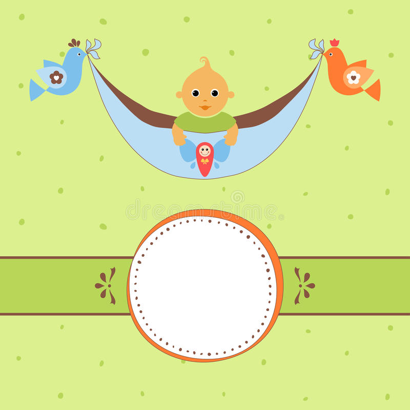 Groen babykader royalty-vrije illustratie