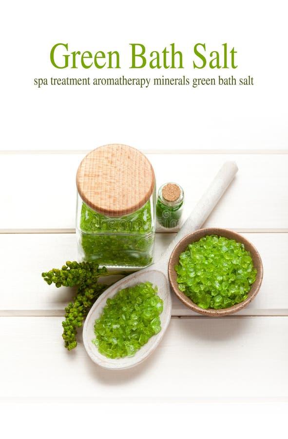 Groen badzout royalty-vrije stock afbeelding
