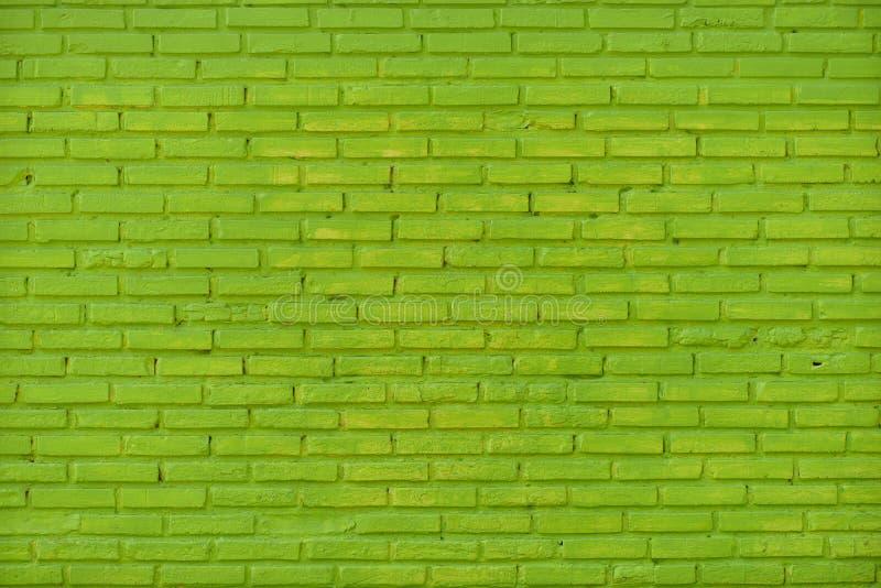 Groen Bakstenen muurpatroon stock fotografie
