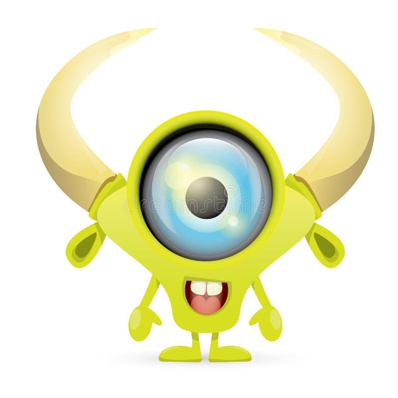 Download Groen Beeldverhaal Leuk Monster Vector Illustratie - Illustratie bestaande uit leuk, achtergrond: 54088786