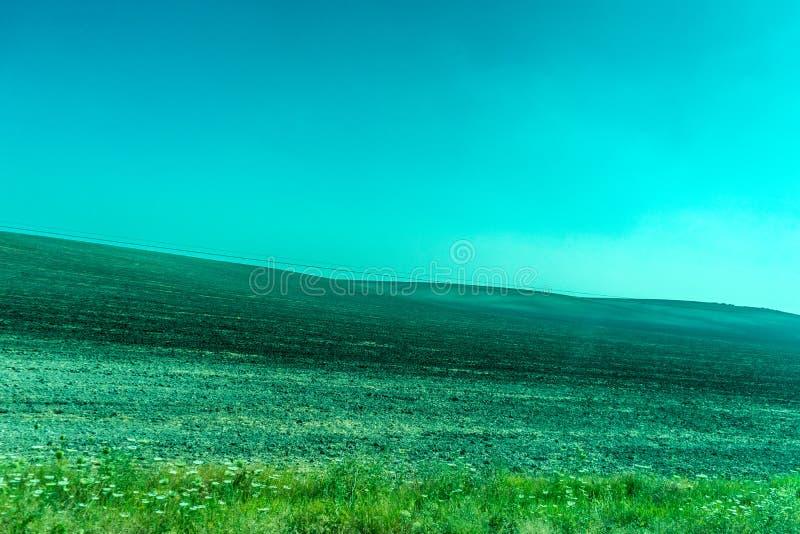 Groen, Bergen, Landbouwbedrijven en Gebieden op de rand van Ronda royalty-vrije stock foto's