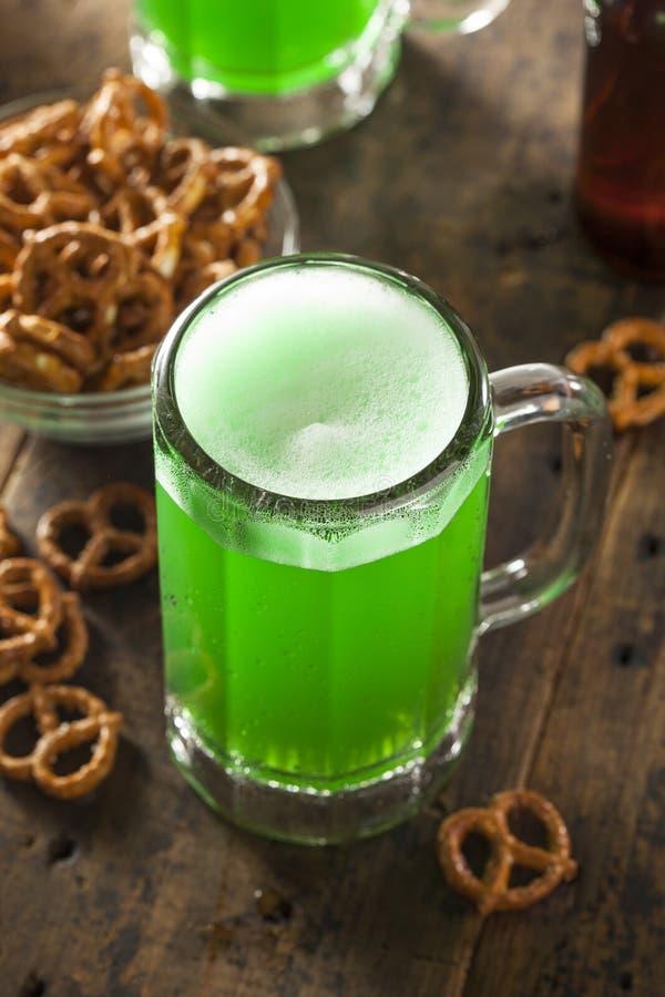 Groen Bier voor St. Patrick Dag royalty-vrije stock foto