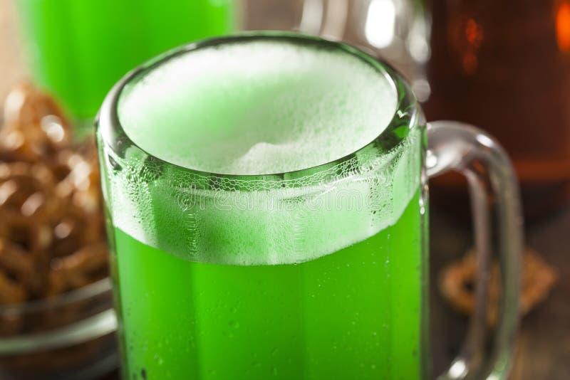 Groen Bier voor St. Patrick Dag royalty-vrije stock foto's