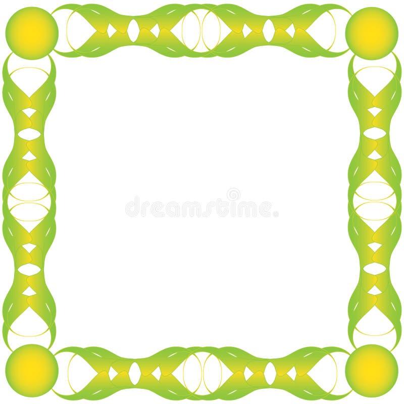 Groen biokader vector illustratie