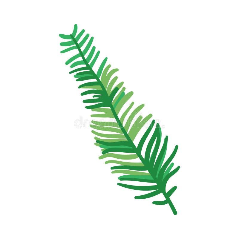 Groen blad van vareno rem, gebladerte van abstracte installatie vector illustratie