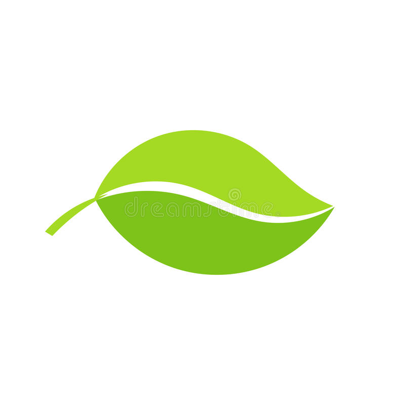 Groen bladpictogram stock illustratie