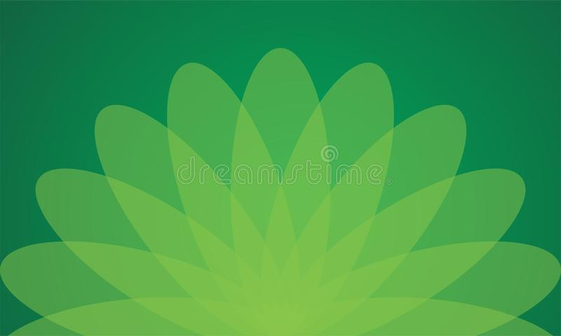 Groen Bloembehang Als achtergrond stock foto