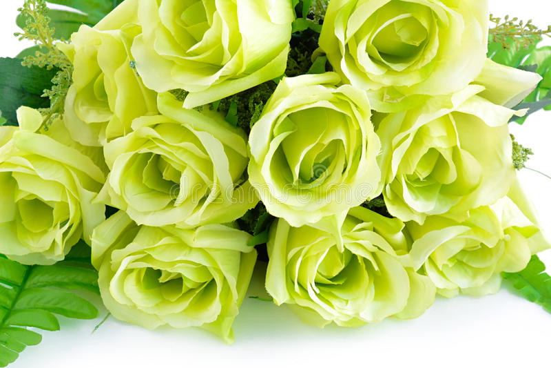 Groen bloemboeket op witte achtergrond royalty-vrije stock fotografie