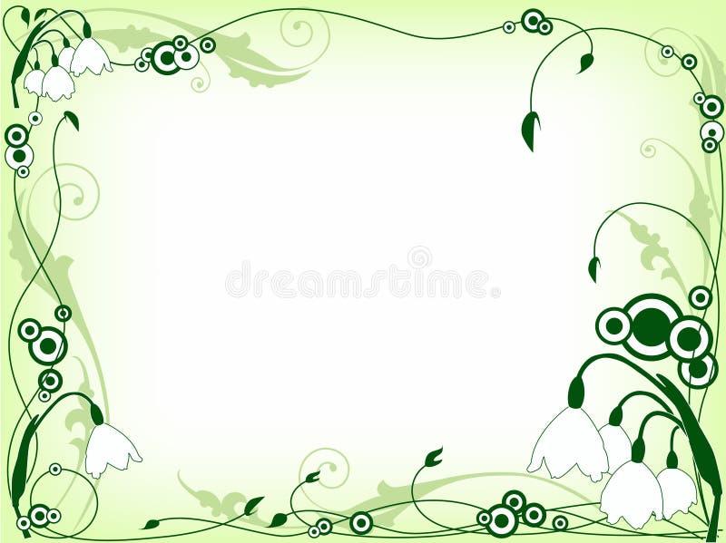 Groen bloemenframe stock illustratie