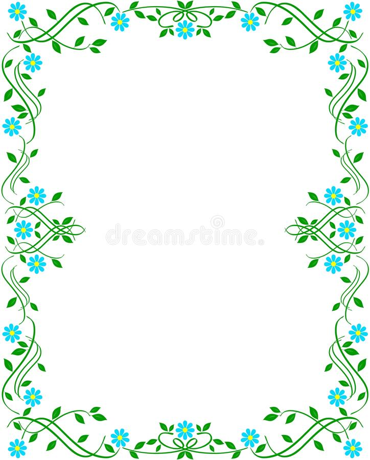 Groen bloemenframe royalty-vrije stock foto's