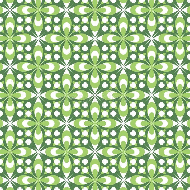 Groen BloemenPatroon vector illustratie