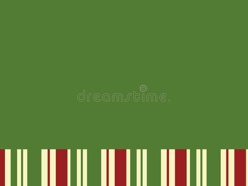 Groen Blok met de Strepen van Kerstmis stock afbeelding