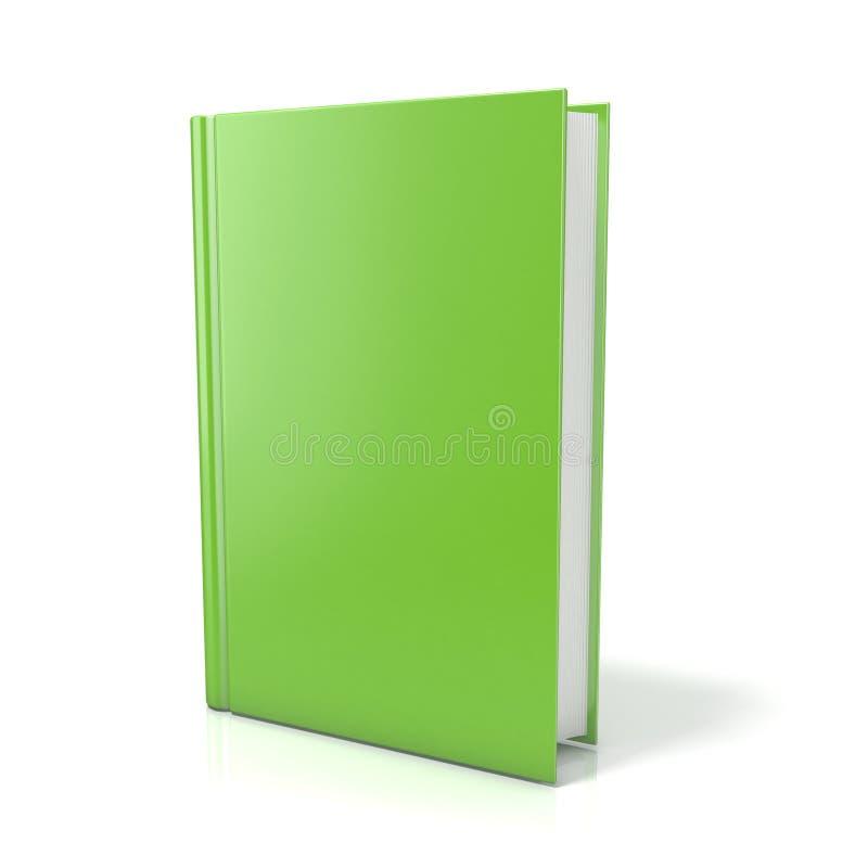 Groen boek 3d geef illustratie terug vector illustratie