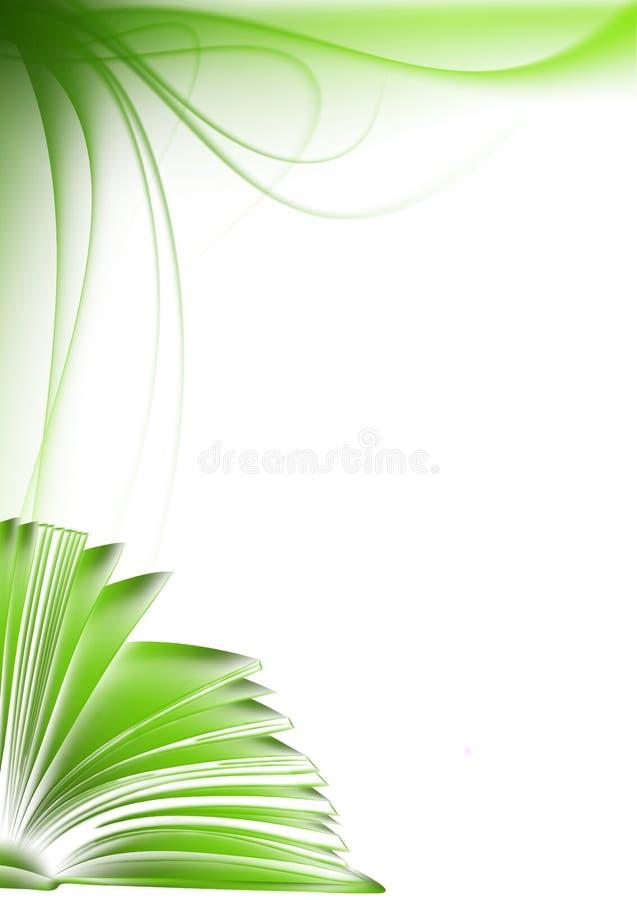 Groen boek. de illustratie van de schetsstijl vector illustratie