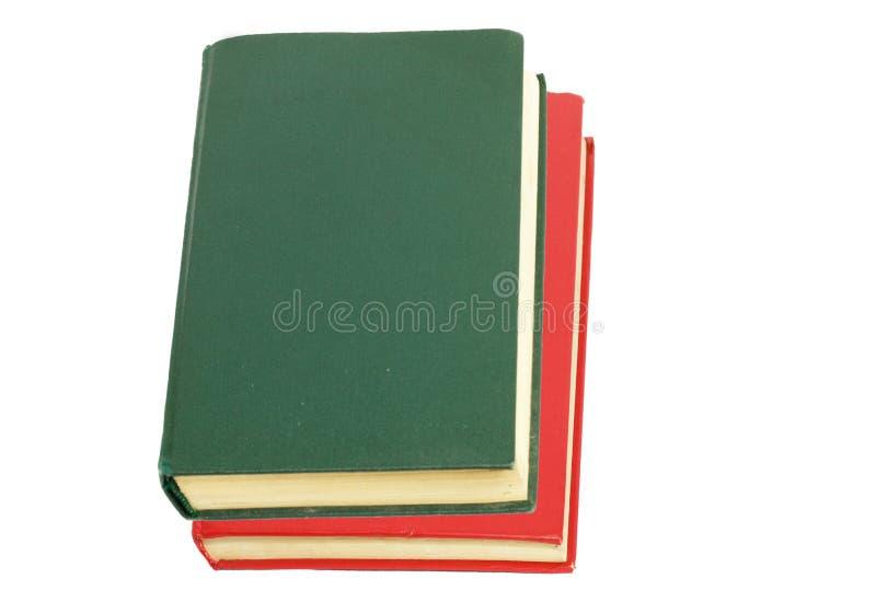 Groen boek en rood boek royalty-vrije stock afbeelding