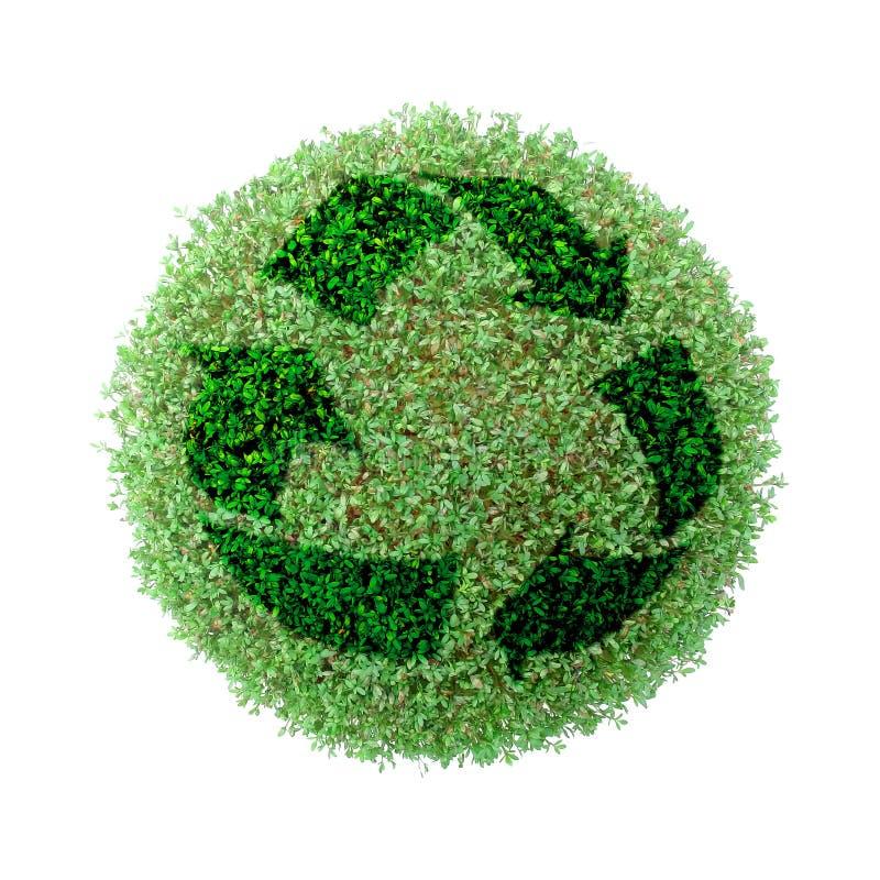 Groen bol recycling royalty-vrije stock afbeeldingen