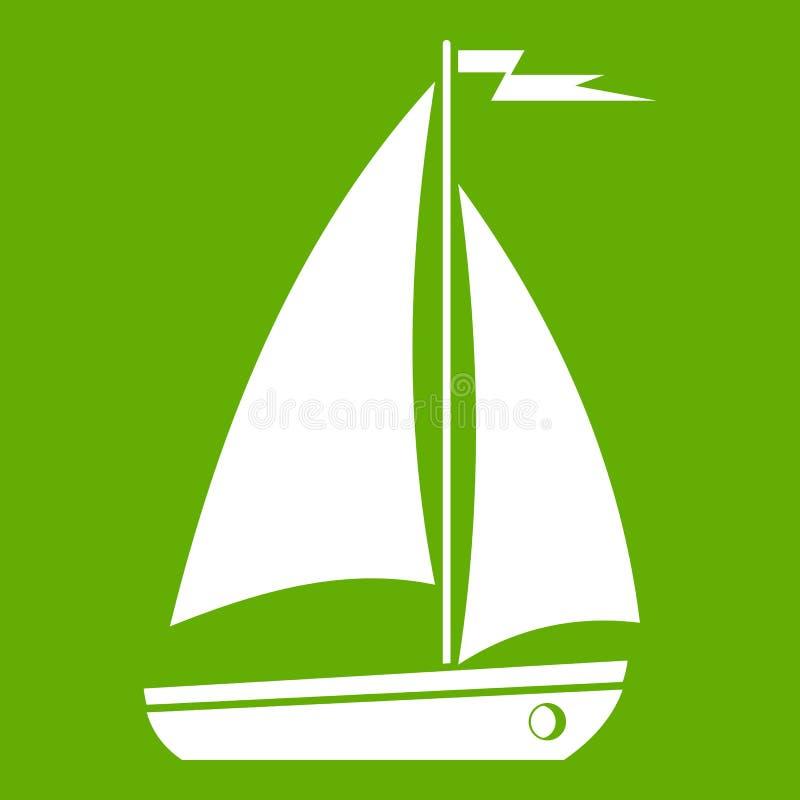 Download Groen bootpictogram vector illustratie. Illustratie bestaande uit tekening - 107707830